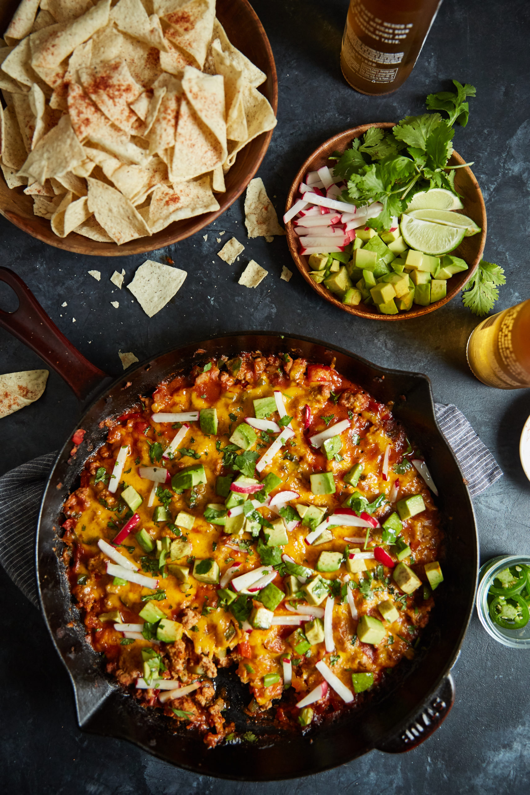 turkey taco skillet bake