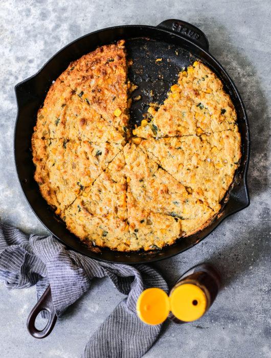 Homemade Poblano Corn Casserole