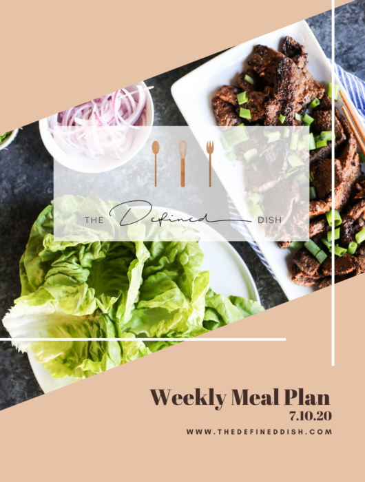 Weekly Meal Plan 7.10.20