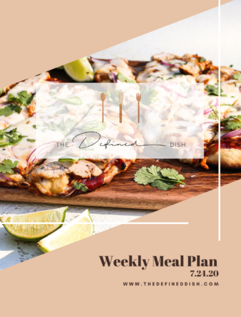 Weekly Meal Plan 7.24.20