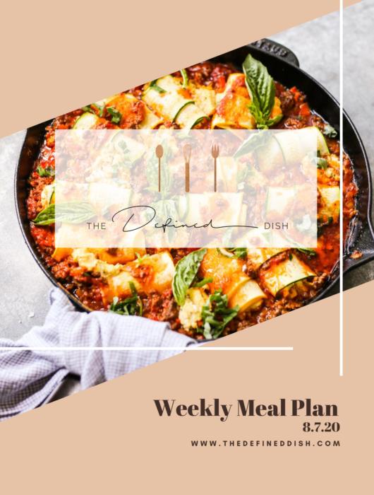 Weekly Meal Plan 8.7.20