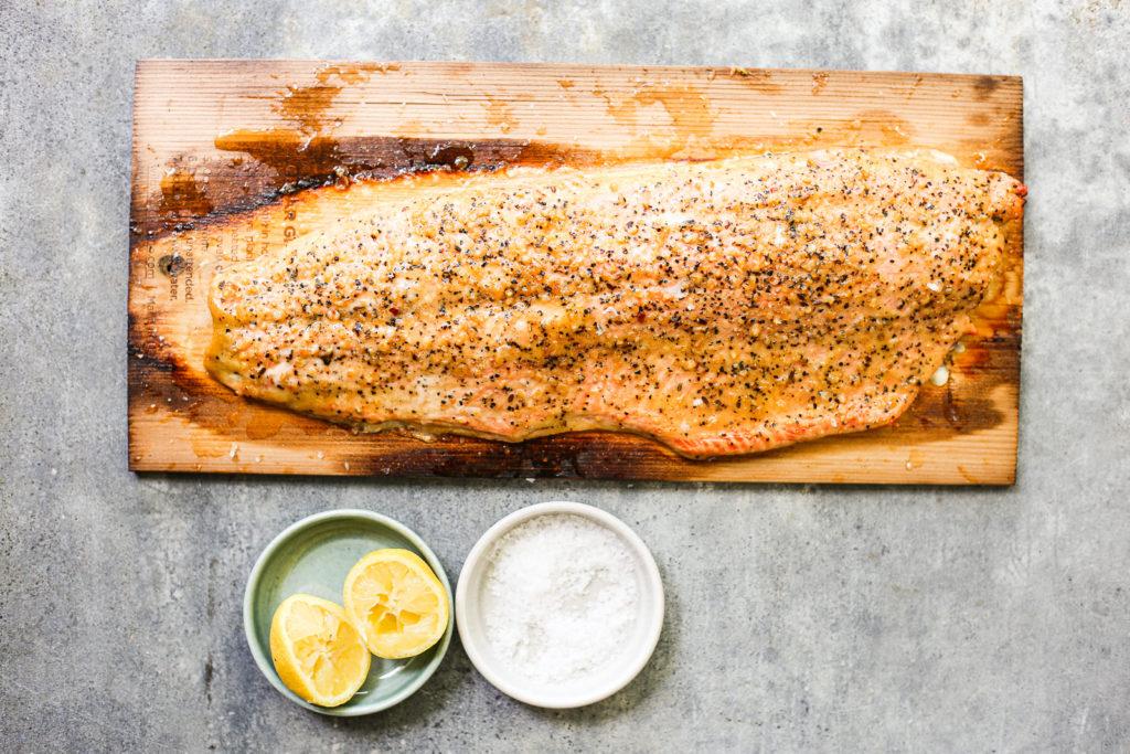 simple cedar plank salmon