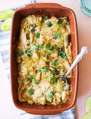 Hatch Chile Enchilada Casserole