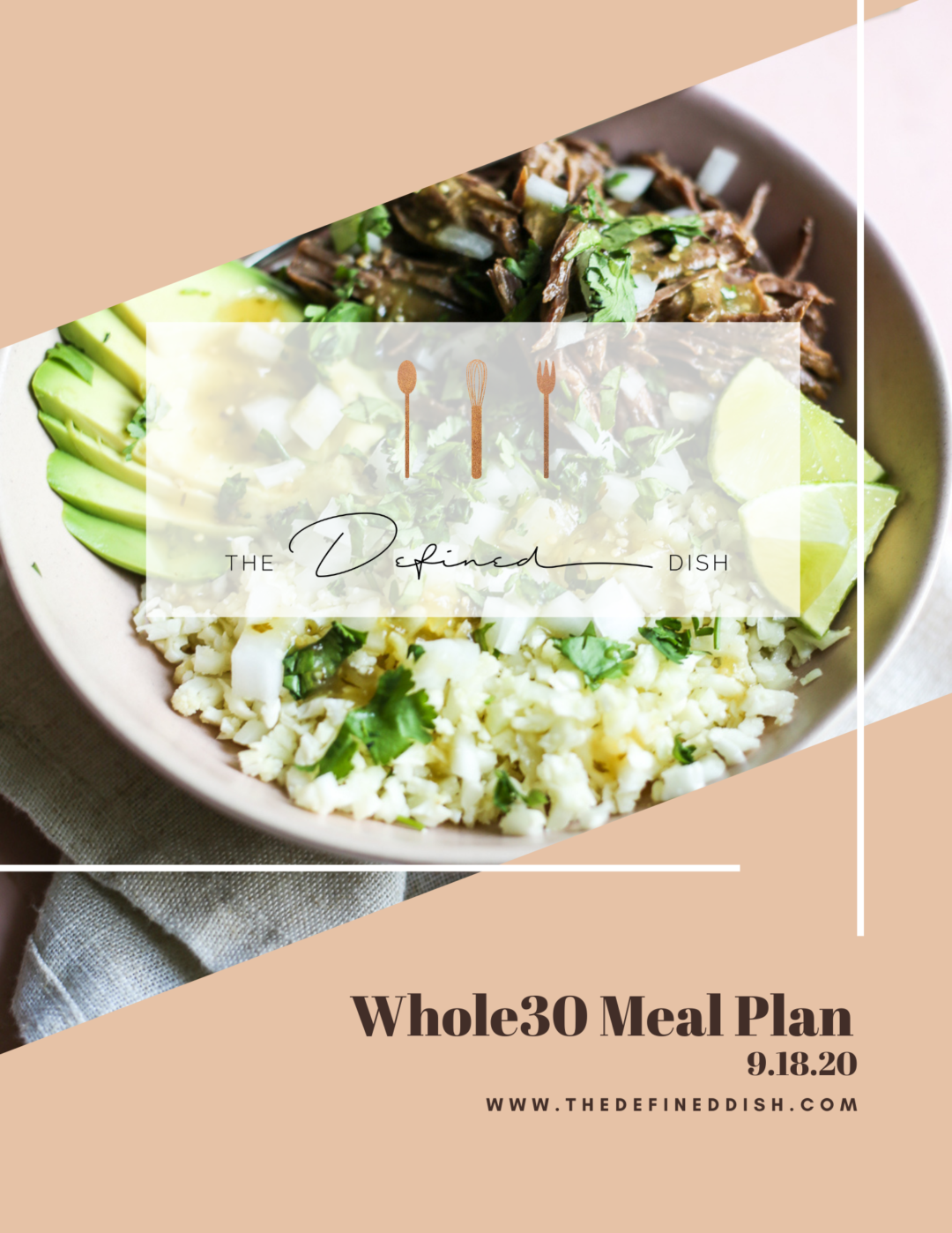 W30 Weekly Meal Plan 9.18