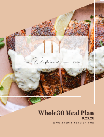Whole30 Meal Plan {9.25.20}