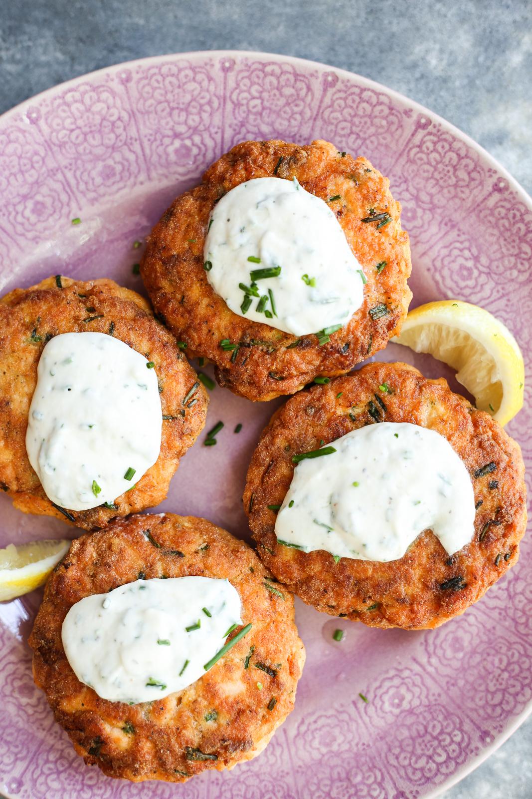 sour cream and onion salmon burgers