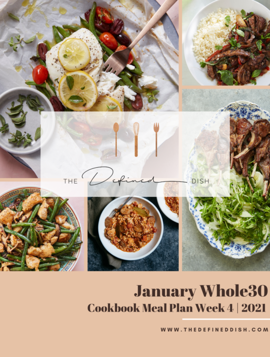 January Whole30 {Cookbook} Meal Plan Week 4