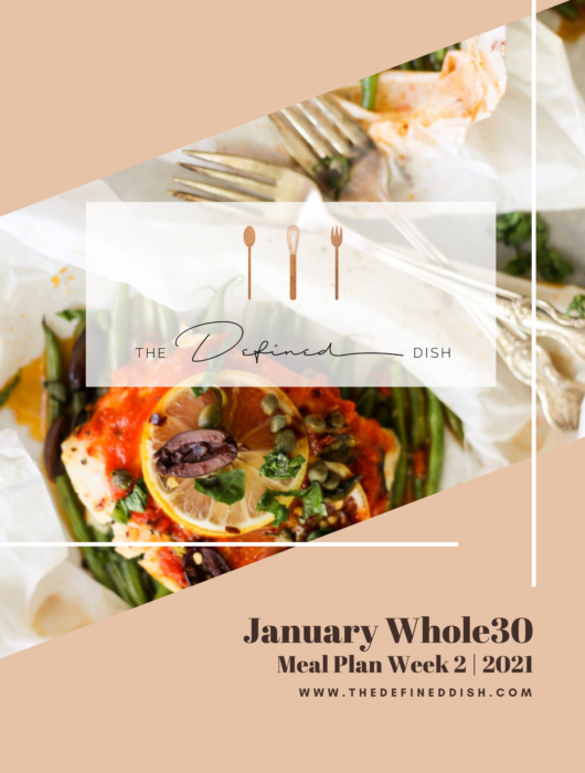 January Whole30 Meal Plan 2