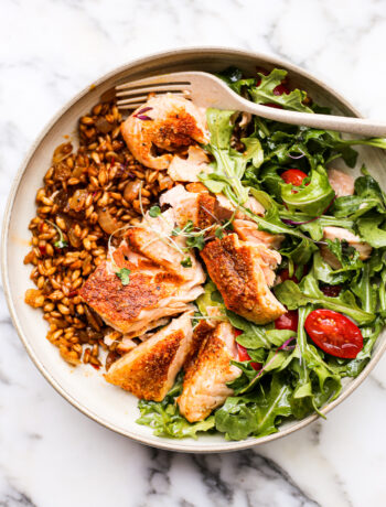 Curried Salmon Farro Bowls