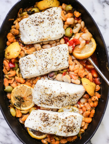 Roast Fish with White Beans and Calabrian Chiles