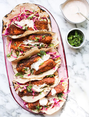 Crunchy Blackened Salmon Tacos