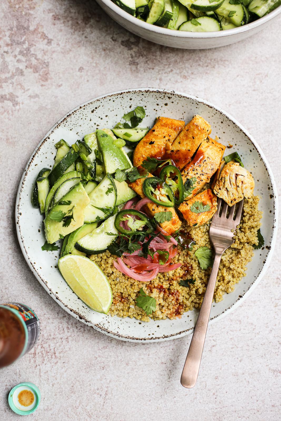 Mahi-Mahi Bowls with Adobo Quinoa