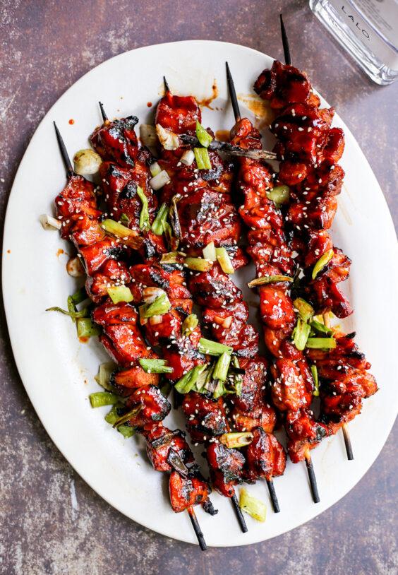 Korean-Inspired Chicken Skewers
