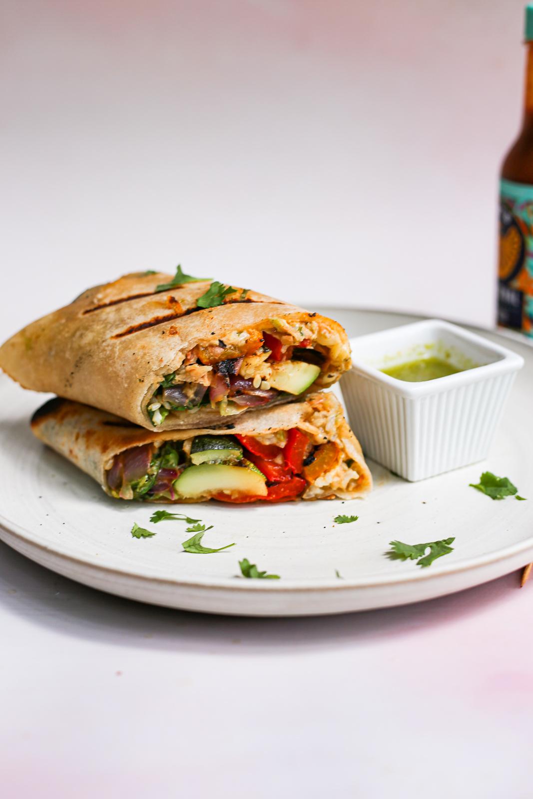 ultimate grilled veggie burritos