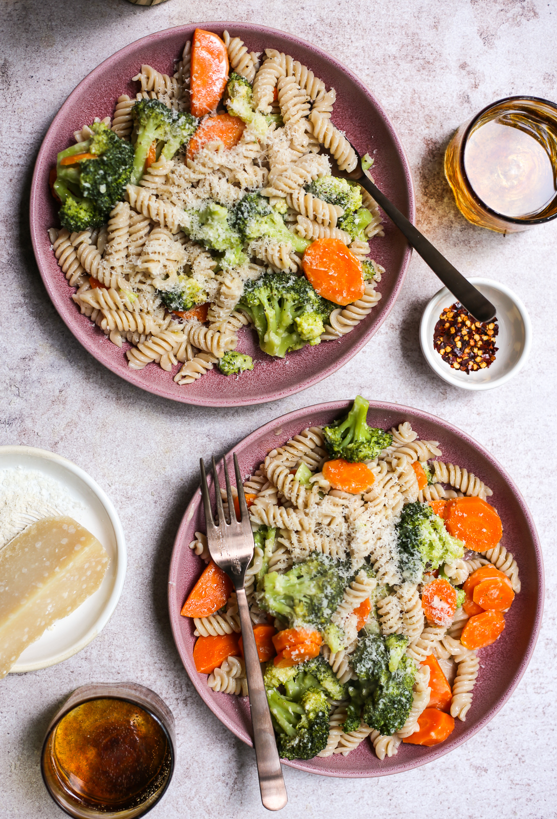 Aunt Leigh's Broccoli and Carrot Pasta