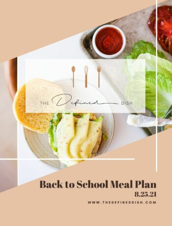 Back to School Meal Plan82521