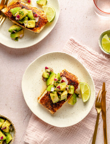 Pan Roasted Chipotle Halibut with Avocado Salsa