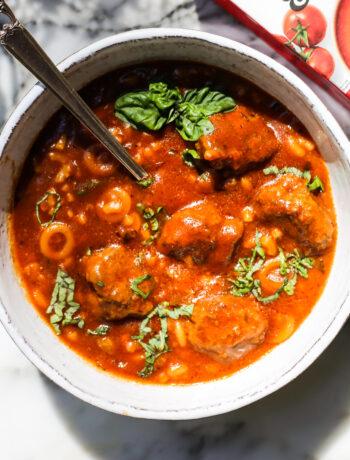 One-Pot Spaghetti-o's and Meatballs
